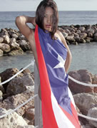 Dee with Puerto Rico Flag