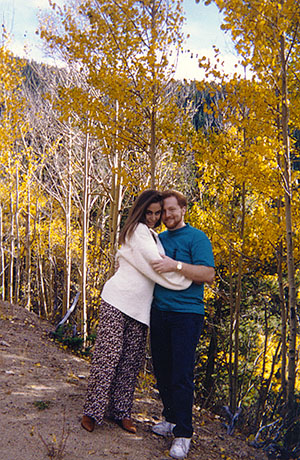 Chasey Lain and Steve O. in the Rockies, some time before the relationship turned that way.
